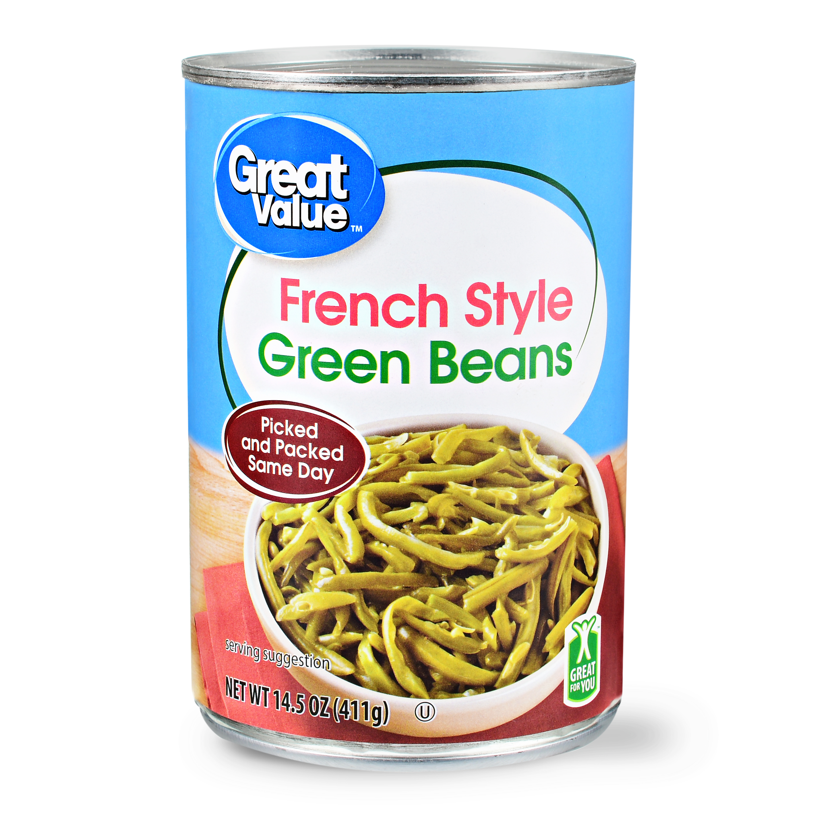 Great Value French Style Green Beans, 14.5 oz
