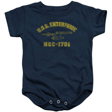 Star Trek Boys' Enterprise Athletic Bodysuit (Athletic Onesie)