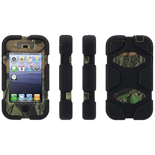 Griffin Obsession/Black Survivor All-Terrain in Mossy Oak Camo Case with Belt Clip for iPhone 4/4s, Military-Duty Case for iPhone 4/4s