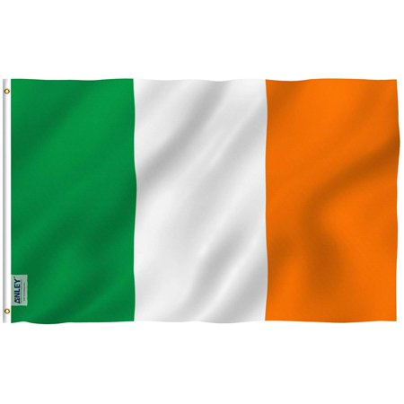 The Irish Flag (ANLEY Fly Breeze 3x5 Foot Ireland Flag - Vivid Color and UV Fade Resistant - Canvas Header and Double Stitched - Irish National Flags Polyester with Brass Grommets 3 X)