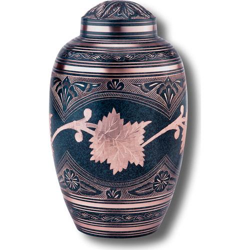 Star Legacy's Patina Leaf Brass Cremation Urn for Human Ashes with Velvet Bag, Large/Adult