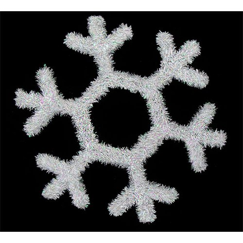 Northlight Seasonal Tinsel Snowflake Hanging Christmas Decoration