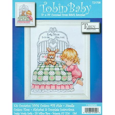 Bedtime Prayer Boy Birth Record Counted Cross Stitch Kit ()