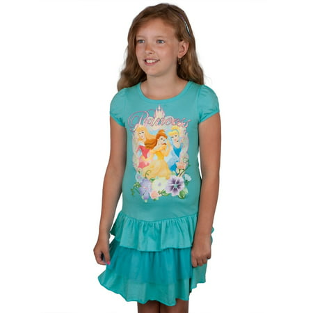 Disney Princesses - Glitter Portrait Princess Girls Juvy Dress