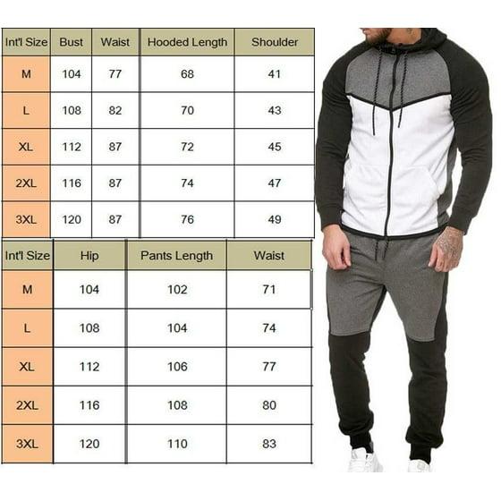 Men Tracksuit Jogging Top Bottom Sport Sweat Suit Trousers Hoodie Coat Or Pants M XXXL