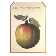 """RENE MAGRITTE Ceci n'est pas une pomme 27.5"""" x 19.75"""" Poster 2009 Surrealism Green, Brown, Red"""