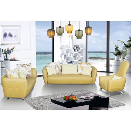 container 3 piece leather living room set