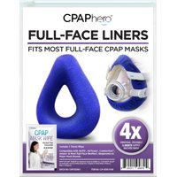 CPAP Mask Liner 4 Pack plus Travel Wipe, by CPAPhero - For Full Face Masks, AirFit, etc.