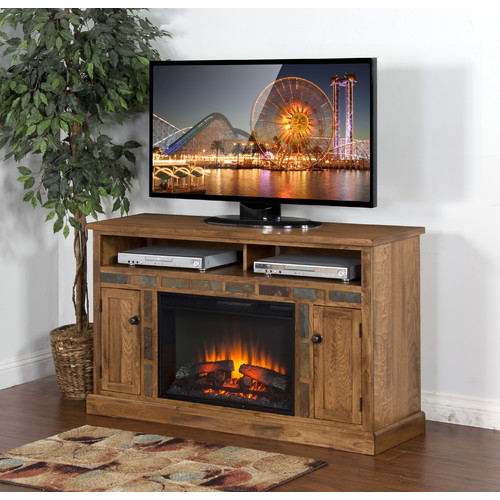 Loon Peak Fresno Tv Stand For Tvs Up To 40 With Fireplace