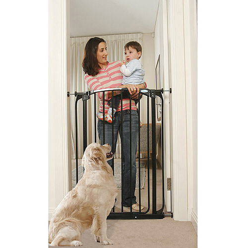 Dreambaby Chelsea Extra Tall Auto Close Security Gate with Extensions, Black