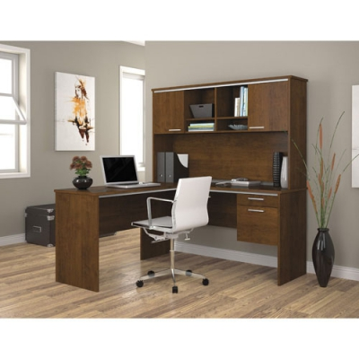 Flare L-shaped workstation in Tuscany Brown BER9042763