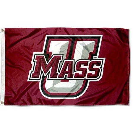 Massachusetts Minutemen UMass Logo 3' x 5' Pole (5' Logo Flag)