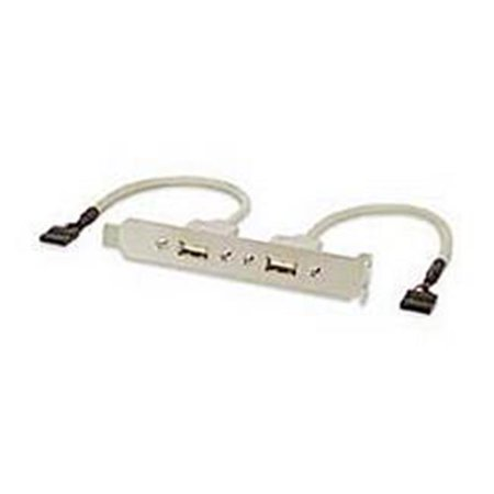Ziotek 204 1135 2 Port USB Bracket To 2-5 Pin Internal Cable - image 1 of 1