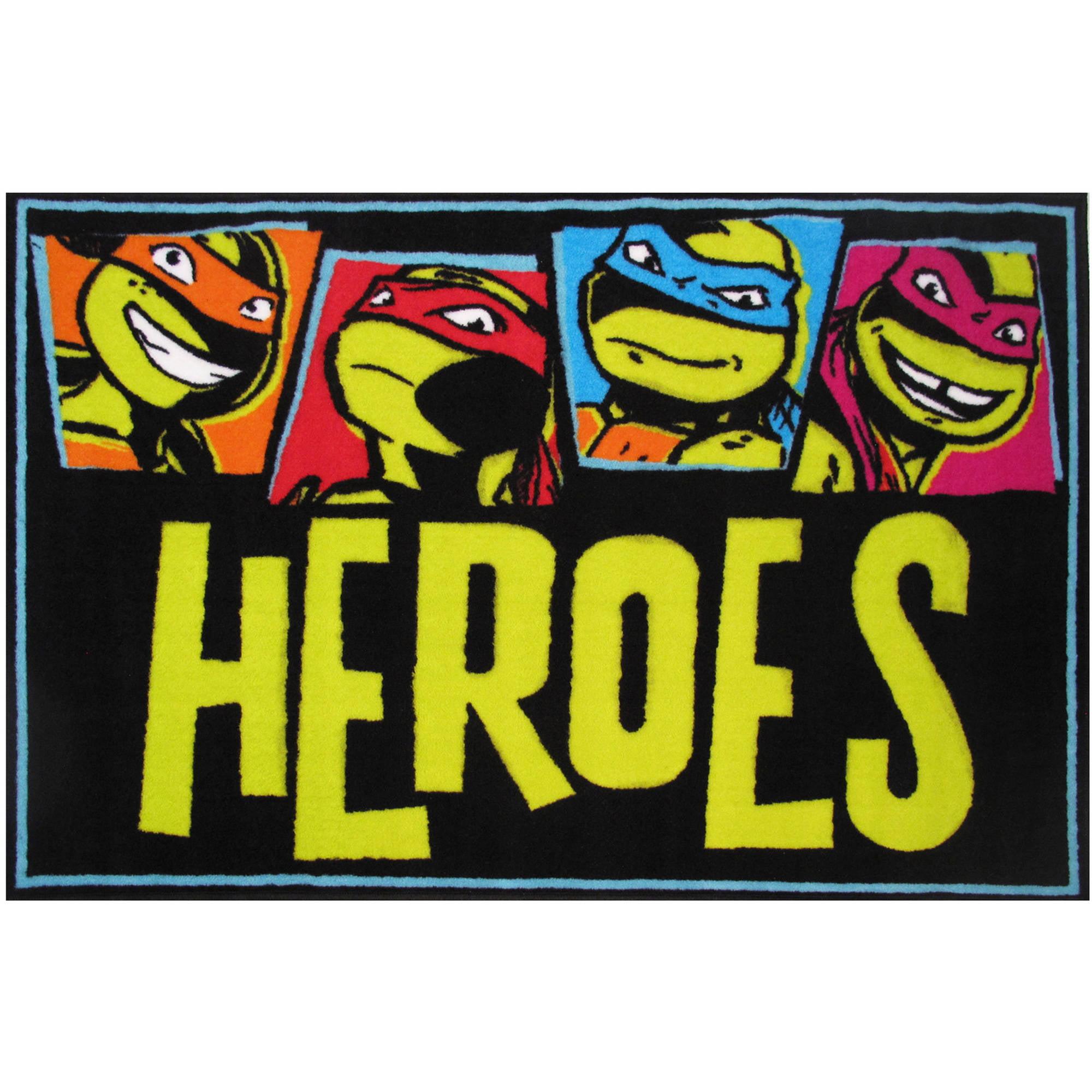 """Fun Rugs Nickelodeon Ninja Turtles Heroes Kids Rugs 19"""" x 29"""" Rug by Fun Rugs"""
