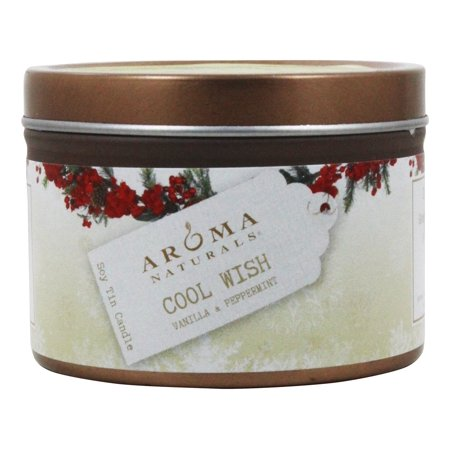 Aroma Naturals - Wish Holiday Soy VegePure Small Travel Tin Eco-Candle Peppermint &