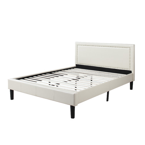 Madison Home USA Deluxe Upholstered Platform Bed by Overstock