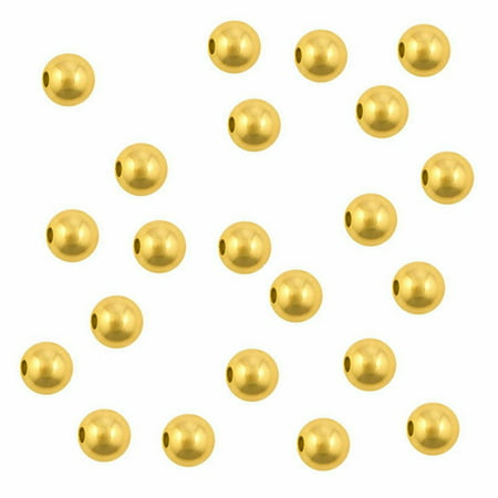 3mm Round Gold Plated Beads - Package of 500 ()