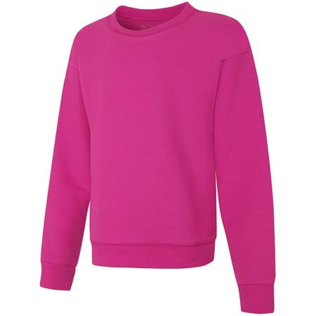 Girls White Hoodie - Hanes ComfortSoft™ EcoSmart® Girls' Crewneck Sweatshirt(Little Girls & Big Girls)