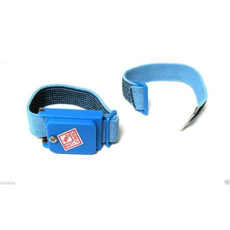 CableVantage NEW BLUE Anti Static Antistatic Wristband Strap Band Cordless US SELLER