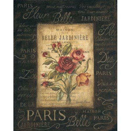Bel Bouquet III - Mini Amazing Retro France Quote Popular Beautiful Rose Paris Poster (Luc Bel Air Rare Rose Sparkling France)