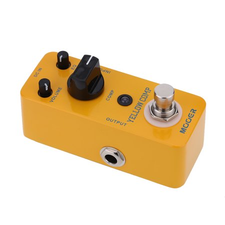 Mooer Yellow Comp Micro Mini Optical Compressor Effect Pedal for Electric Guitar True