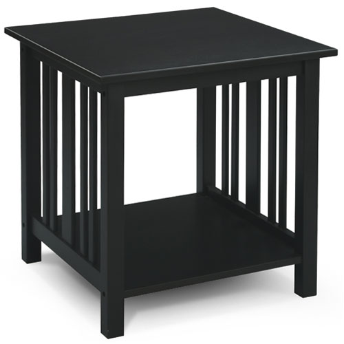MissionStyle End Table Black Walmartcom