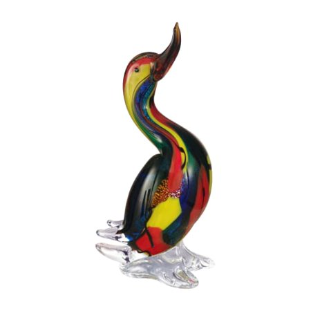 Dale Tiffany AS10782 Duck Figurine with Hand Blown Art Glass
