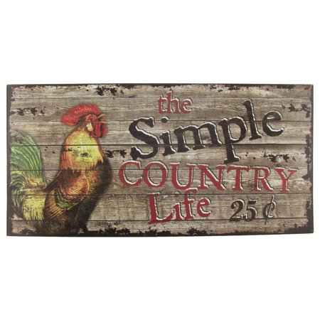Simple country life sign rustic farm house home primitive farmhouse wall decor