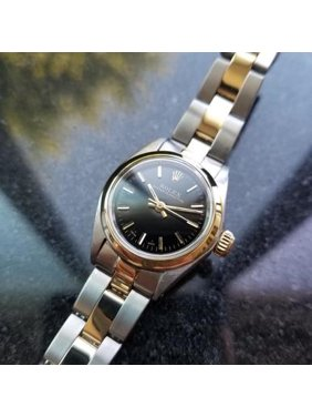 02061839b18 Product Image ROLEX Ladies 14K Gold & SS Oyster Perpetual 6718, c.1976 Swiss  Luxury MS110