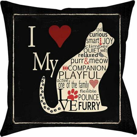 IDG Love My Cat Pillow - Cat Pillow