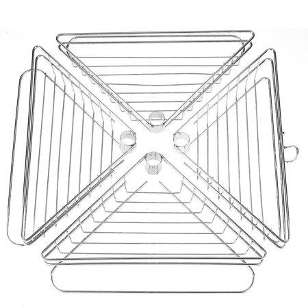 VGEBY Corner Shower Caddy, Adjustable 4 Tier Metal Bathroom Shower Corner Tension Pole Caddy Shelf Rack Tripod - 4 Hollow Out Baskets - for Storage Organizer Contain Bath Shampoo Hand Soap ()