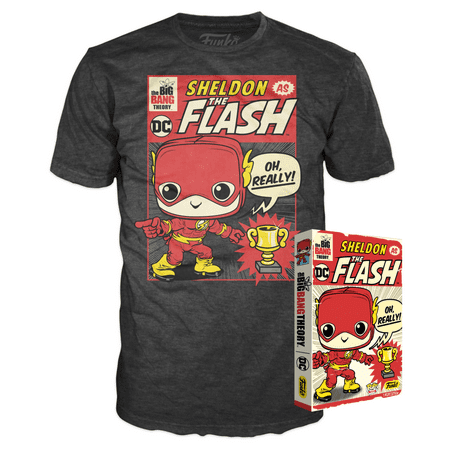 Funko Boxed Tee: The Big Bang Theory - Sheldon as The Flash - XL - Summer Convention Exclusive