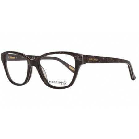 Guess By Marciano GM0280-050-51 Cat Eye Womens Brown Frame Clear Lens Eyeglasses