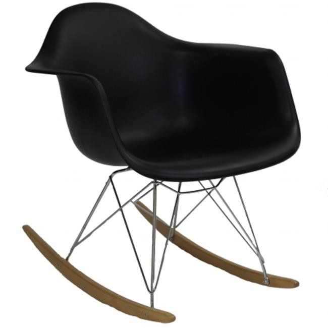 East End Imports EEI-147-BLK Plastic Molded Rocking Chair in Black