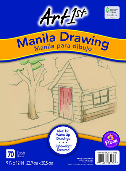 9 x 12 inches Sax 56 lb Manila Drawing Paper Manila Pack of 500