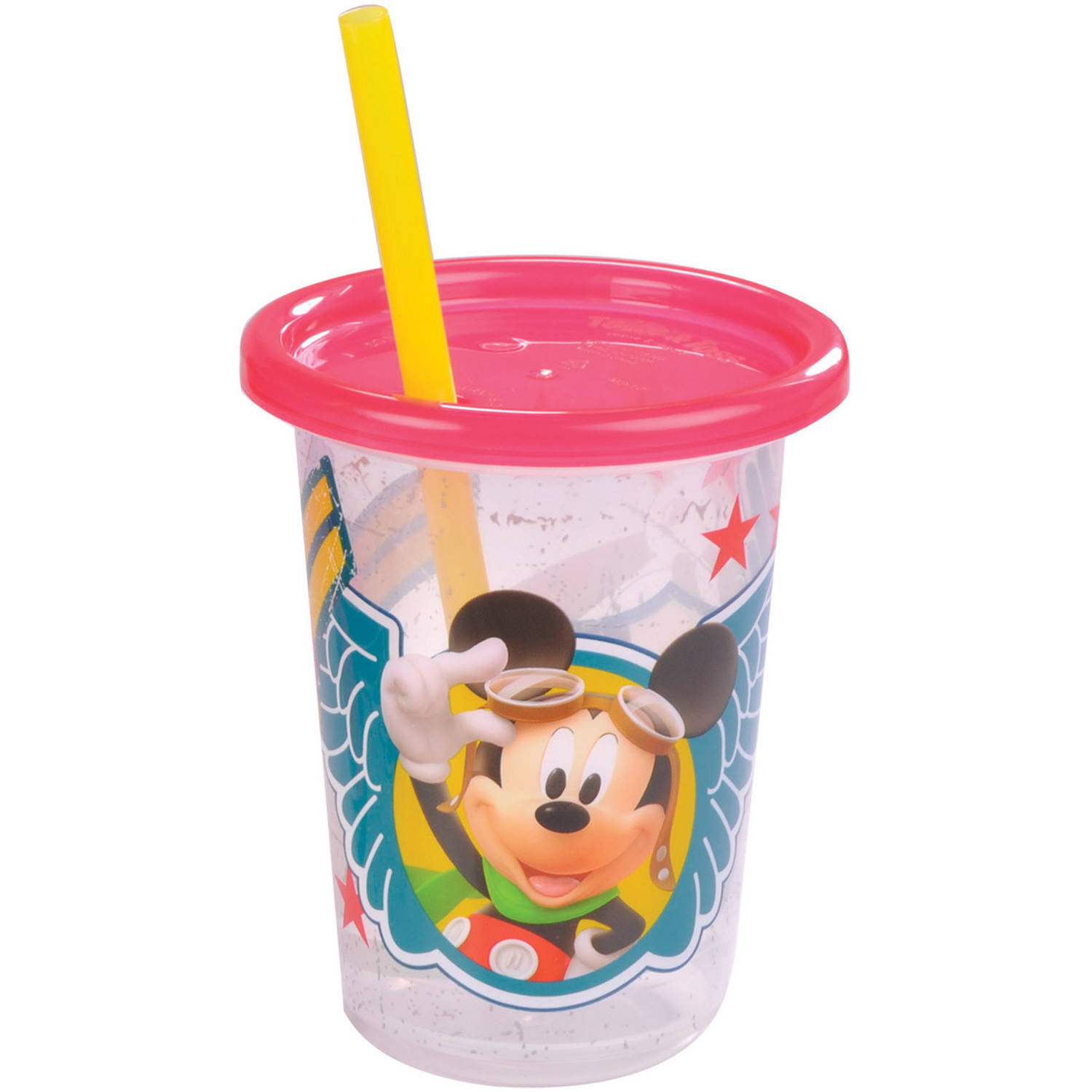 The First Years Disney Mickey Mouse Take & Toss 10 oz. Straw Cups, BPA-Free (3-pack)