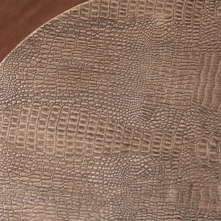 Southern Enterprises Libson Round Accent Table in Blackwashed Gold - image 3 of 6