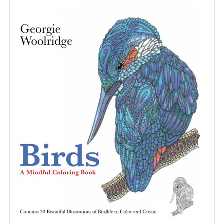 St Martins Books Birds A Mindful Coloring Book SM 95022