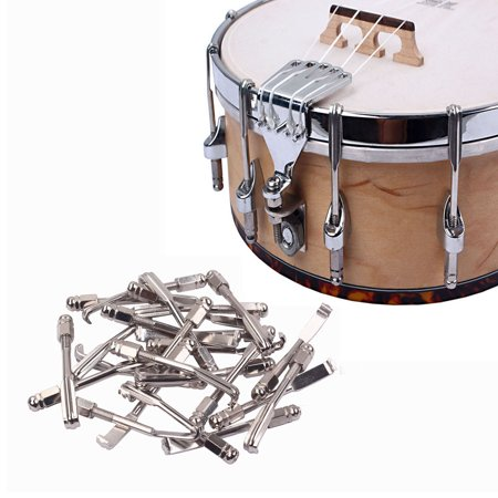 24pcs Hooks and Nuts Metal Chrome Plated Parts for