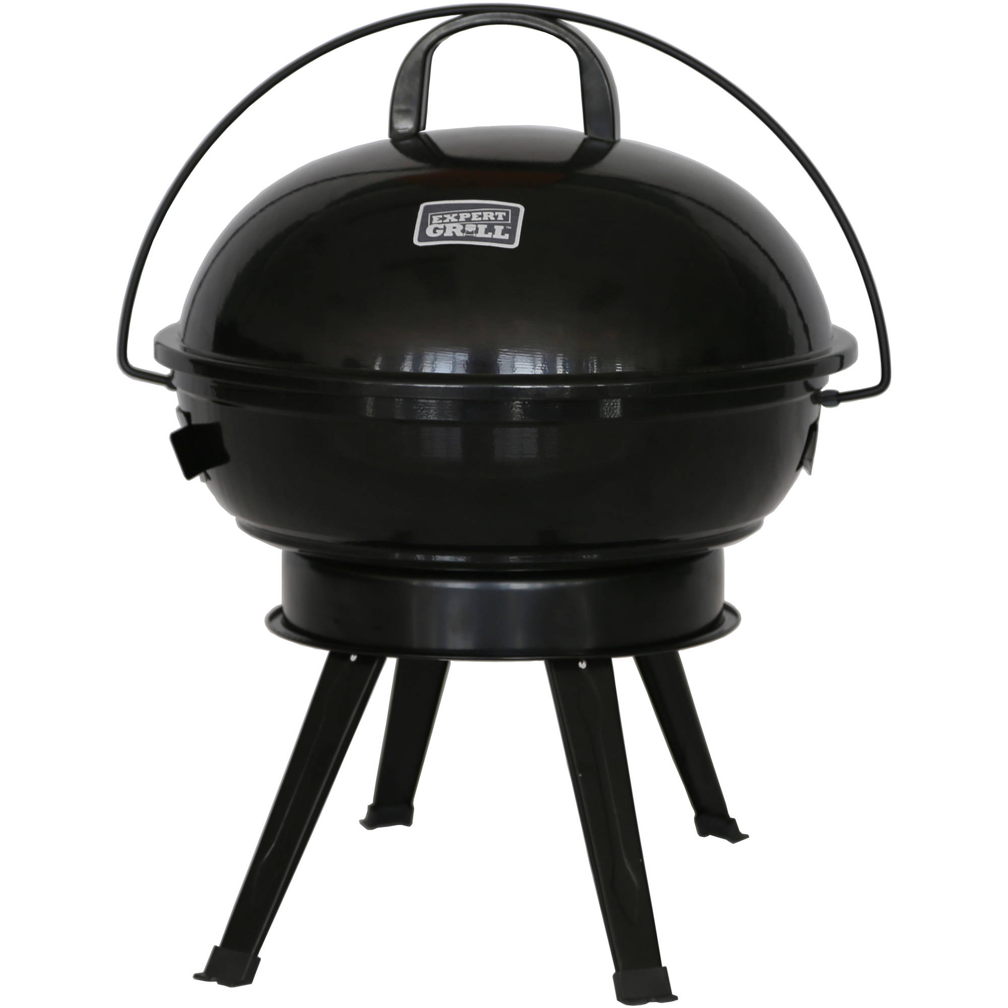 "Expert Grill 14.5"" Dome Charcoal Grill, Black"