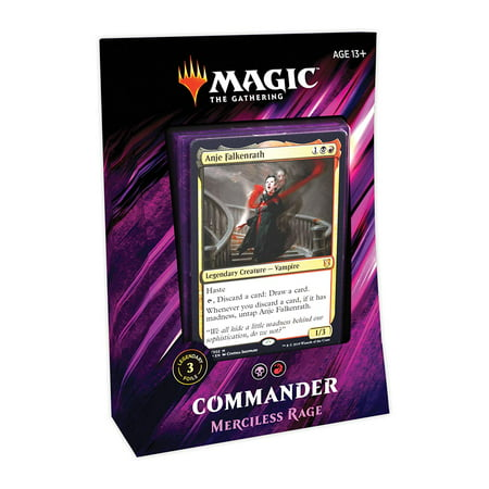 Magic: The Gathering Commander 2019 Merciless Rage Deck | 100-Card Ready-to-Play Deck | 3 Foil Commanders | Factory