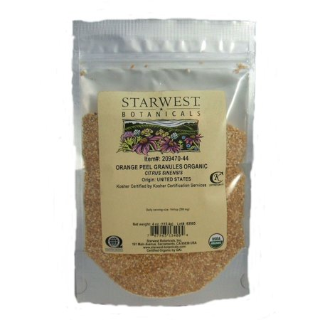 Starwest Botanicals  Organic Orange Peel Granules 4oz