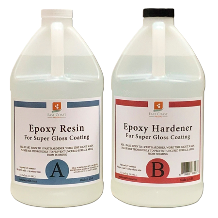 EPOXY RESIN 1 Gal kit for Super Gloss Coating and Table -