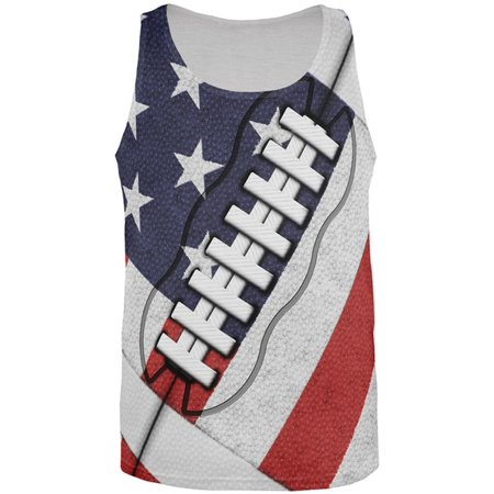 4th of July American Flag Patriot Football All Over Mens Tank -