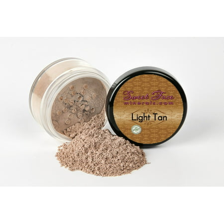 LIGHT TAN FOUNDATION by Sweet Face Minerals Sample to Bulk Sizes Mineral Makeup Bare Skin Sheer Powder Cover (20 Gram Sifter (Makeup Sifters)