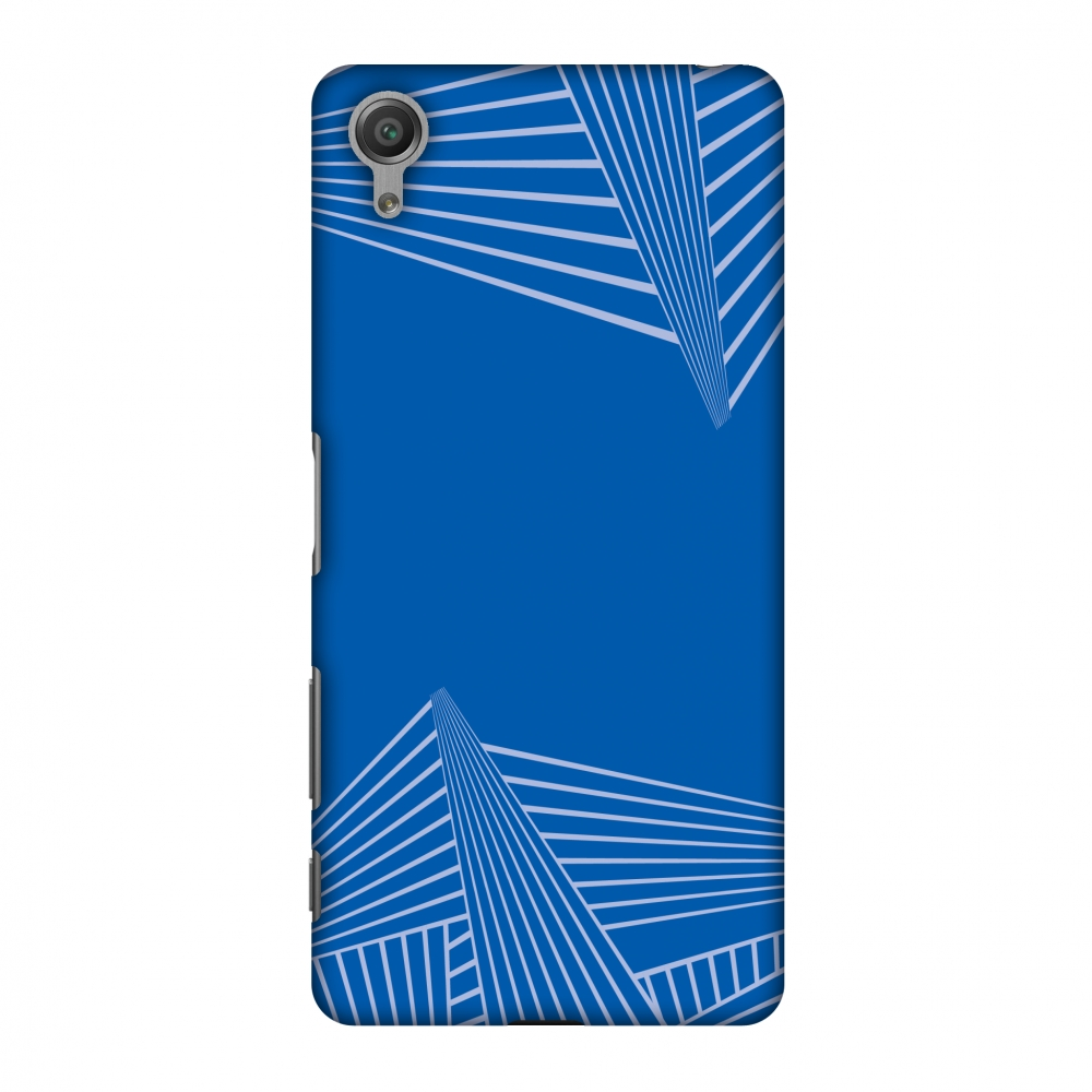 Sony Xperia X Case, Premium Handcrafted Printed Designer Hard Snap On Case Back Cover for Sony Xperia X - Carbon Fibre Redux Coral Blue 3