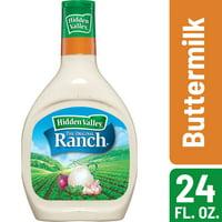 Hidden Valley Buttermilk Ranch Salad Dressing & Topping, Gluten Free - 24 Ounce Bottle