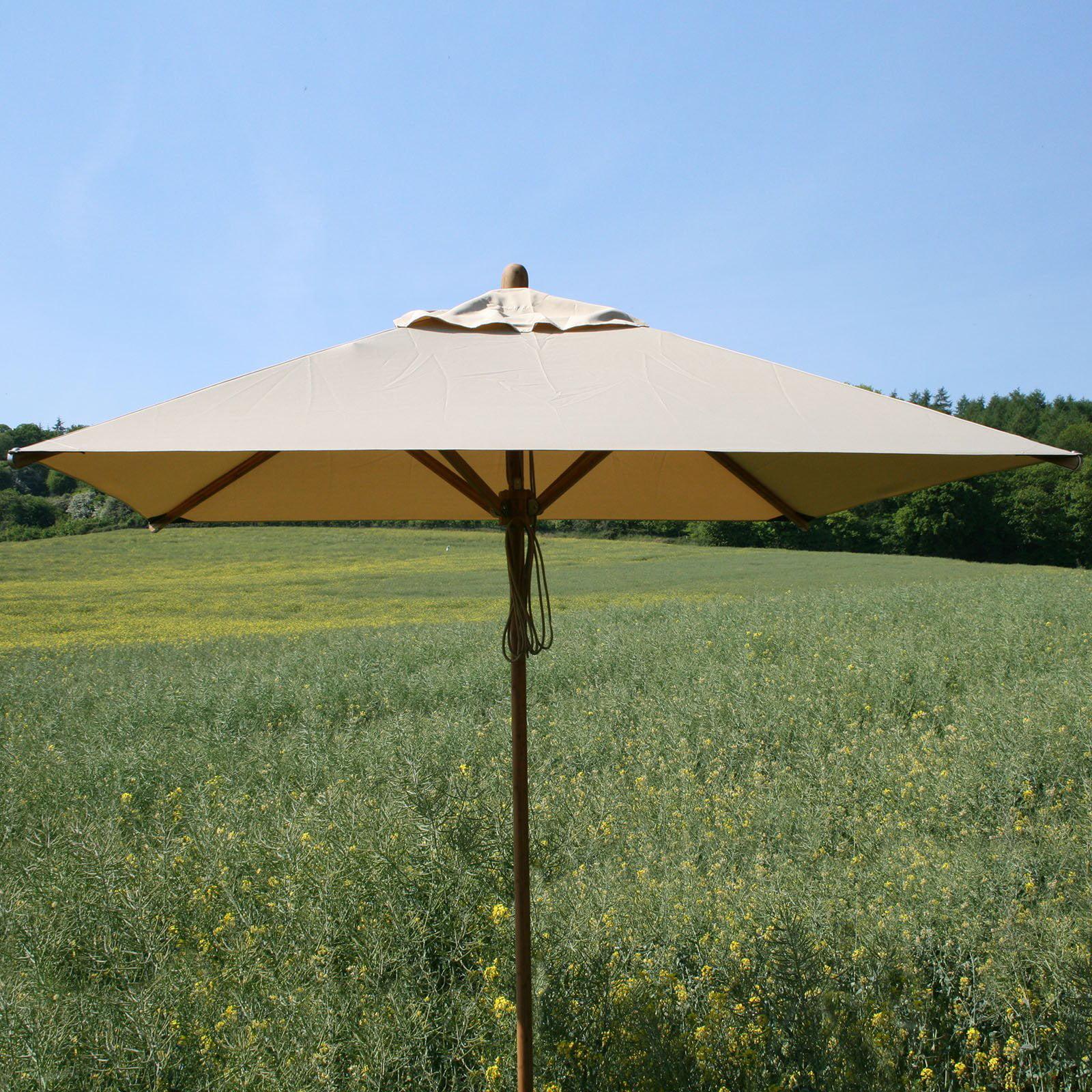 Bambrella Levante 7 ft. X 10 ft. Rectangular Bamboo Market Umbrella