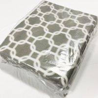 "Shason Textile (2 Yards cut), Geometric Anti-Pill Fleece, 72""x 60"" Fabric, Grey/White"