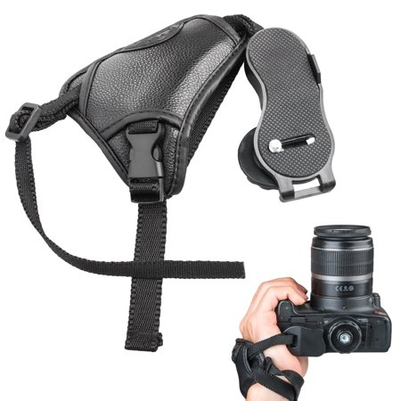 EEEKit Camera Padded Wrist Grip Strap, Premium Leather Hand Grip Strap for DSLR Cameras- Prevents Droppage and Stabilizes Video,For Canon Nikon Sony ()